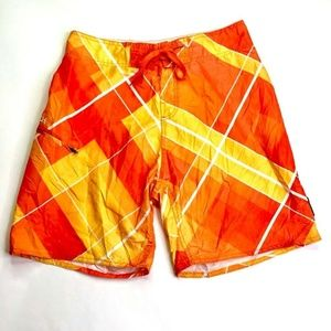 Body Glove Mens Board Shorts Swim Trunks Orange 30